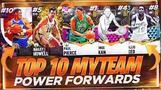 THE TOP 10 POWER FORWARDS IN NBA 2K21 MYTEAM!! NBA 2K21 BEST POWER FORWARD CARDS!!