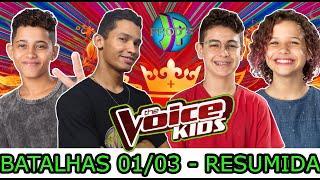 ♫ RESUMO TOP 10 MELHORES BATALHAS 01/03  #2 THE VOICE KIDS BRASIL 2020 [ JP_PROD´S ]