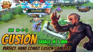 Gusion Savge | Gusion Fast Hand Combo With Best Build And gameplay (2020) : Gusion Mobile Legends