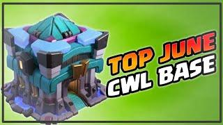 TOP 10 CWL BASE JUNE | NEW UPDATE | NEW DEFENSE | end of June session | Clash Of Clans
