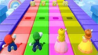 Mario Party the top 100 Minigames: Mario vs Luigi vs Daisy vs Peach : Party all mini game