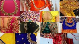 100##ari maggam work blouse designs#top 100+ maggam work blouse designs//maggam work images