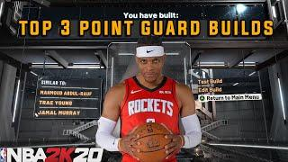 *NEW* TOP 3 POINT GUARD BUILDS IN NBA 2K20! Unstoppable DEMI-GOD Builds!!