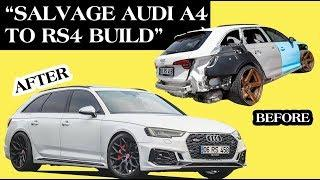 Building an A4 in 10 Mins - Salvage A4 to RS4 Conversion B9 Audi Throtl by Rhino