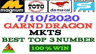 7/10/2020  MKTS  fully  NUMBER_ LUCKY NUMBER _ BEST TOP 3 NUMBER _ MALAYSIA _ SINGAPORE _ LOTTERY