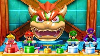 Mario Party The Top 100 - Peach vs Mario Luigi vs Waluigi(Very Hard Difficulty)| Cartoons Mee