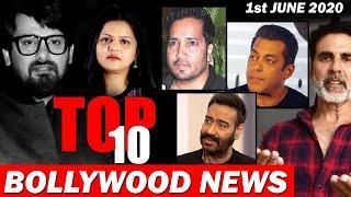 Top 10 Bollywood News  1st June   Wajid Khan, Salman Khan Akshay Kumar