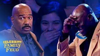 OMG! Greatest Feud moment ever? | Celebrity Family Feud