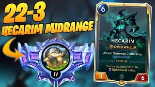22-3 TO DIAMOND HECARIM MIDRANGE | Best Decks Runeterra | Legends of Runeterra | Top Decks Runeterra
