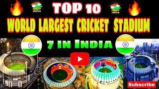 TOP 10 WORLD LARGEST CRICKET STADIUM ;/Biggest Stadium MOTERA STADIUM INDIA/SUPREME INDIA