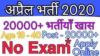 Top 5 Government Job Vacancy in April 2020 | Latest Govt Jobs 2020 Sarkari Naukri 2020