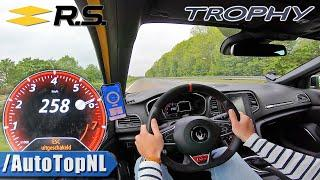 RENAULT MEGANE RS TROPHY 300HP TOP SPEED 258km/h on AUTOBAHN by AutoTopNL