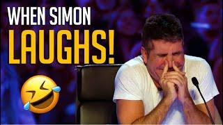 When Simon Cowell LAUGHS Out Loud! Top 10 FUNNIEST Comedians Ever!