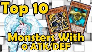 Top 10 Monsters with 0 ATK/DEF in YuGiOh