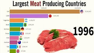 World Largest Meat Producing Countries In The World (1995) (2020) Top 10 Waves