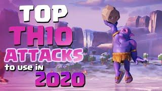 TOP TH10 Attack Strategies to Use in 2020 | 3 Star Town Hall 10 War Attacks | Clash of Clans