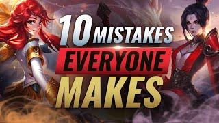 10 GAME LOSING Mistakes EVERY Player Makes in Solo Queue - League of Legends Season 10