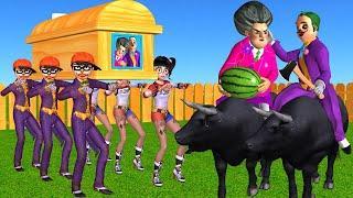 Scary Teacher 3D NickJoker vs Tani Harley Quinn Troll Miss T and Hello NeighborJoker vs Coffin Dance