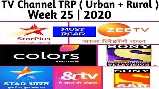 Top 10 TV Channel TRP ( Urban + Rural ) | Week 25 | 2020