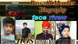 BOSS GUILD TOP 10 MEMBER FACE REVIEW BIOGRAPHY || HOW TO BOSS MEMBER FACE AND REVIEW ||GJ GAMING