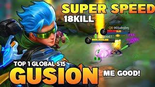 Top 1 Global Gusion S15 | 18KILL Insane Burst Damage Build Fast Hand | Gusion Gameplay | MLBB✓