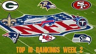 Top 10 NFL Power Rankings Week 2