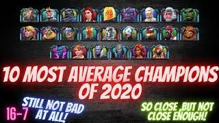 10 Most Average Champions Released In 2020! Marvel Contest Of Champions!