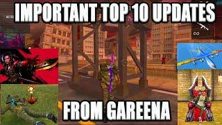 IMPORTANT UPDATE FROM GAREENA || OB22  OFFICIAL TOP 10 UPDATE||TAMIL FREE FIRE TRICKS||RUN GAMING