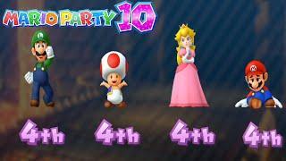 Mario Party 10 Series Maps - Mario vs Peach vs Toad vs Luigi (Haunted Trail) MARIO CRAZY