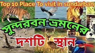 || TOP 10 PLACE TO VISIT IN SUNDARBAN || সুন্দরবন ভ্রমনের দশটি স্থান ||