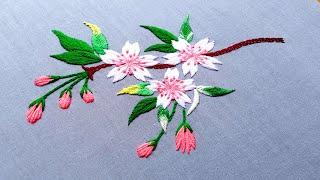 Vivid Hand Embroidery Flowers,Living Embroidery Work,Refreshing Hand Embroidery video-93, #Miss_A