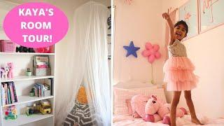 KAYA'S ROOM TOUR 2020   IKEA Inspired Indian Kids Small Room Storage and Organization Ideas