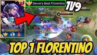 TOP 1 FLORENTINO PRO GAMEPLAY (No Stomp) | AoV | 傳說對決 | RoV | Liên Quân Mobile