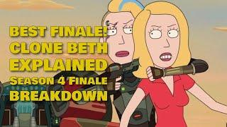 Rick And Morty Season 4 Episode 10 Finale Breakdown BEST SEASON FINALE YET | CLONE BETH EXPLAINED