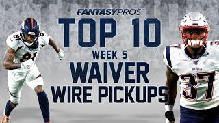 Top 10 Week 5 Waiver Wire Pickups (2020 Fantasy Football)