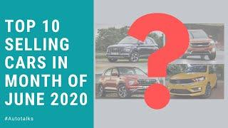 Top 10 selling cars in month of June 2020.