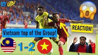 Malaysia vs Vietnam 1-2 Highlights REACTION!! - Vietnam top of the Group! (malaysia vs việt nam 1-2)