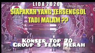 HASIL AKHIR GROUP 5 TOP 70 LIDA 2020 TADI MALAM | TEAM MERAH