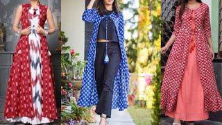 Long jacket kurta pattern/college office wear kurta design ideas