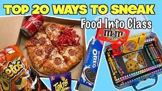 Top 20 Ways To Sneak Food and Candy Into Class Using School Supplies| Nextraker