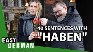 "40 sentences with the verb ""Haben"" | Super Easy German (131)"
