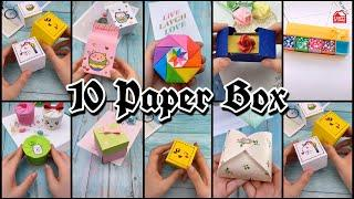 Top 10 Gift Box | DIY | Paper Box | Paper Crafts Ideas | How To Make Paper Easy Box | DIY Paper Box