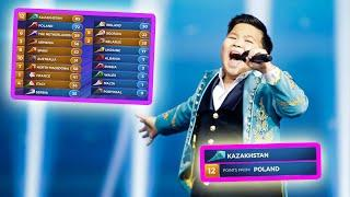 """every """"12 points go to KAZAKHSTAN"""" in junior eurovision final"""