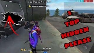 Hidden Place In Free Fire || Top 10 Hide Place In Bermuda Map || Rank Push Tips