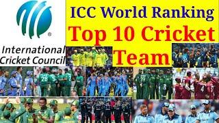 ICC World Cricket Ranking!  Top 10 Cricket Team! Test, ODI & T20 Top 10 Cricket Team Last Update