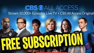 Free CBS All Access ✅ How to get a FREE CBS All Access Subscription