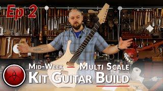 Shrek's Little Brother 2 - Carving the Body & Top - How to Build a UNIQUE Multi-Scale Kit Guitar