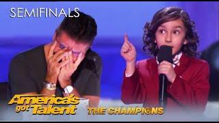JJ Pantano: Child Comedian Absolutely RIPS Into Simon Cowell Like Never Before | AGT Champions 2020