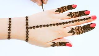 back hand mehandi design-beautiful back hand Arabic mehndi design-होली स्पेशल अरेबिक मेहंदी