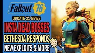 Fallout 76 News - Bethesda Responds to On-Going Issues, Insta Dead Bosses, New Exploits & More